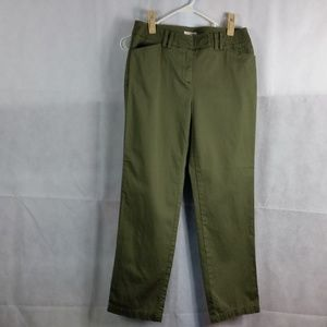 Jones New York green stretch size 6